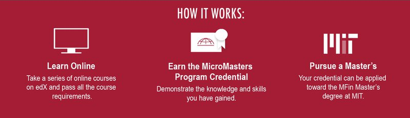 How it works: Learn Online, Earn the Credential, Pursue a Master's